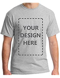Men Custom Add Your Personalized Design Photo Text Name Here Cotton T-Shirt