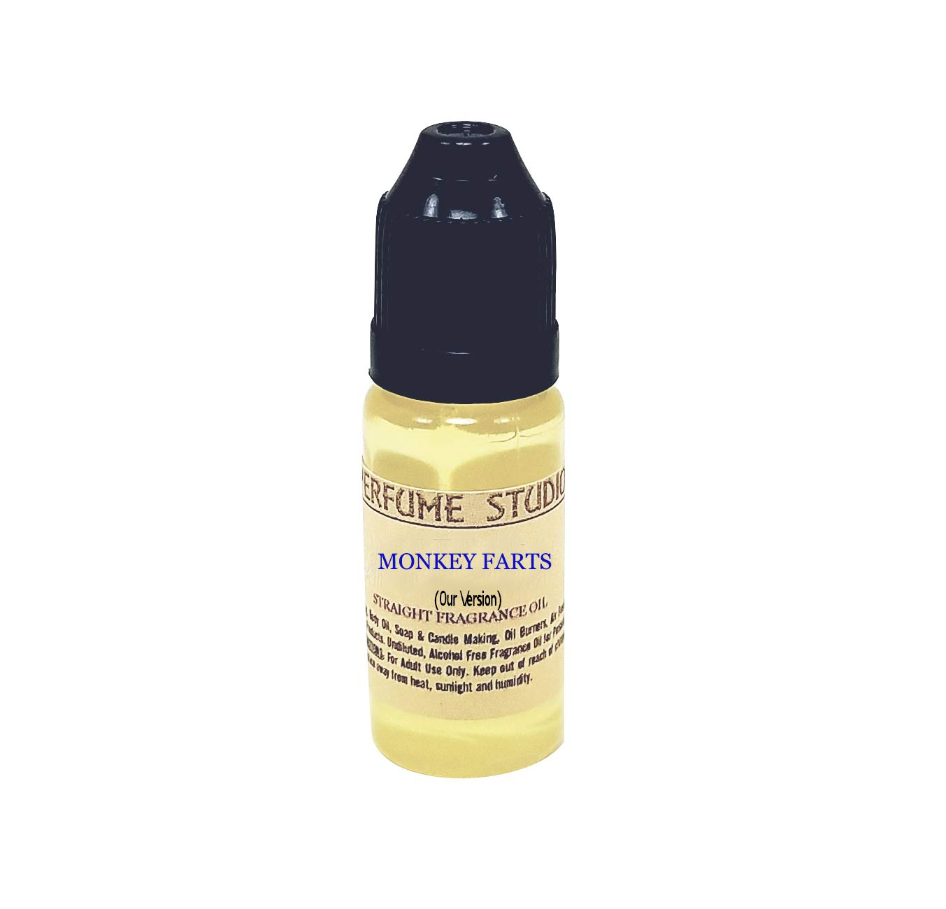 Premium Fragrance Oil for Soap, Candle, Perfume Making, Burners, Lotion, Air Fresheners, Body Mists, Incense, Hair & Skincare Products. Pure Parfum; 12ml – Our Version of (Monkey Farts)