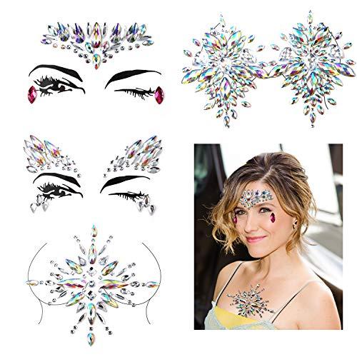Konsait Face   Chest Rhinestones Sticker Gem Face Jewels Rhinestone Bindis  Crystal Tears Gem Temporary Tattoo 6e69836a03b3