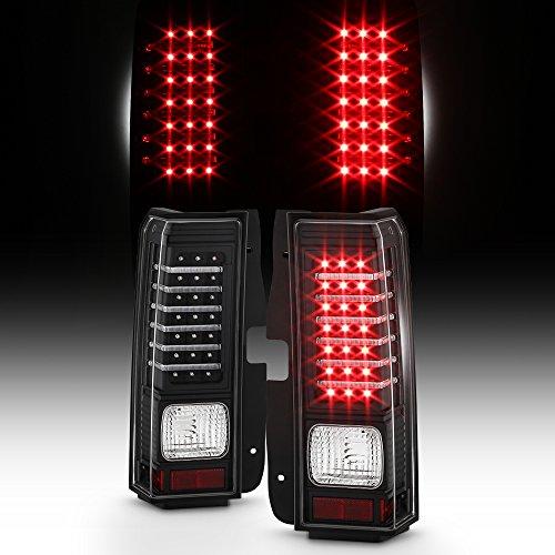 For 2006-2010 Hummer H3 SUV Black Bezel Full LED Tail Brake Light Lamps Assembly Pair LH+RH