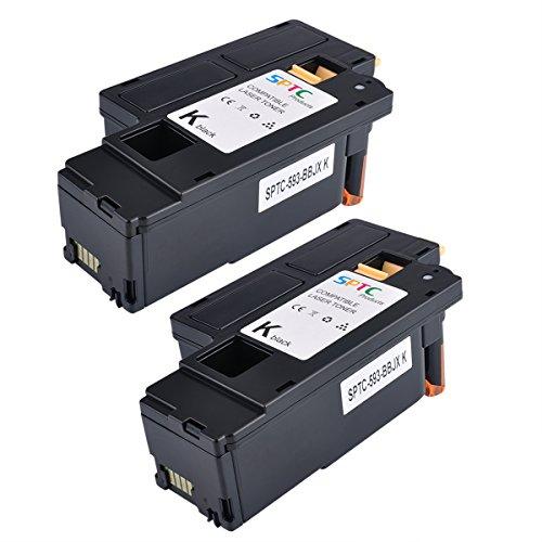 2000 Pages SPTC High Yield Compatible Dell E525W E525 525 Toner Cartridge for Dell Color Multi Function E525W Printers 2 Pack 593-BBJX Black