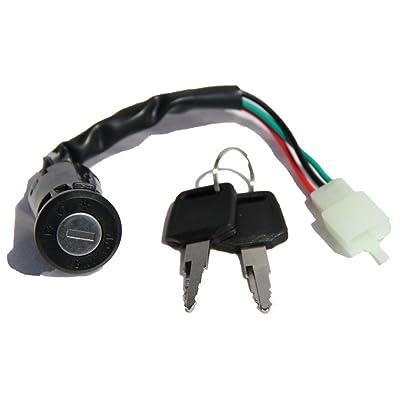 Interrupteur à clé Serrure d'allumage Clé d'allumage SXT Scooter de rechange neuf