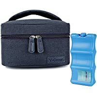 Breastmilk Cooler with Ice Pack Healthy Baby Daycare Set - Keep Food Warm or Cool for Go Out Lunch Bag-Large Capacity…