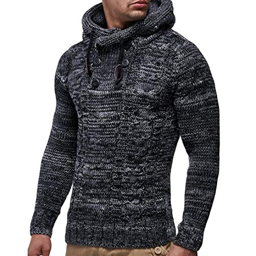 b6b1650c84 NRUTUP Men's Pullover Knitted Cardigan Coat Hooded Sweater Jacket  Outwear,Clearance Deals