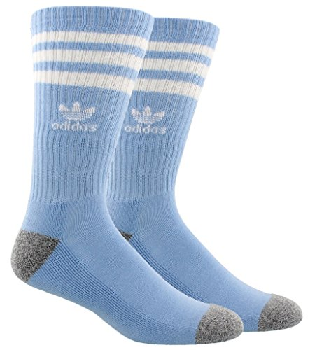 - adidas Men's Originals Roller Crew Socks (1-Pack), Lt Blue, 6-12