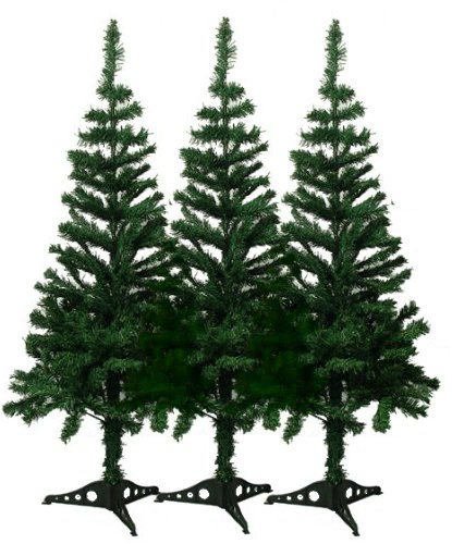 4' Charlie Pine Artificial Christmas Tree (3 Pack) (4 Ft Outdoor Christmas Tree)