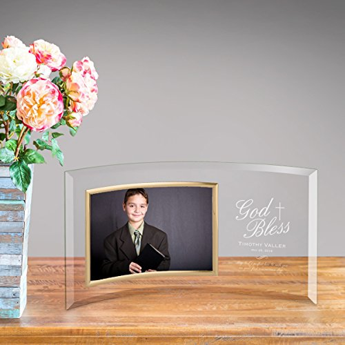 (Personalized First Communion Glass Photo Frame )