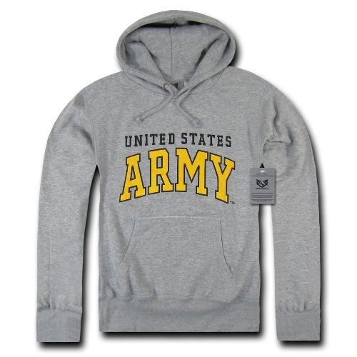 Rapiddominance Army Pullover Hoodie, Heather Grey, Medium Army Grey Hooded Pullover Sweatshirt
