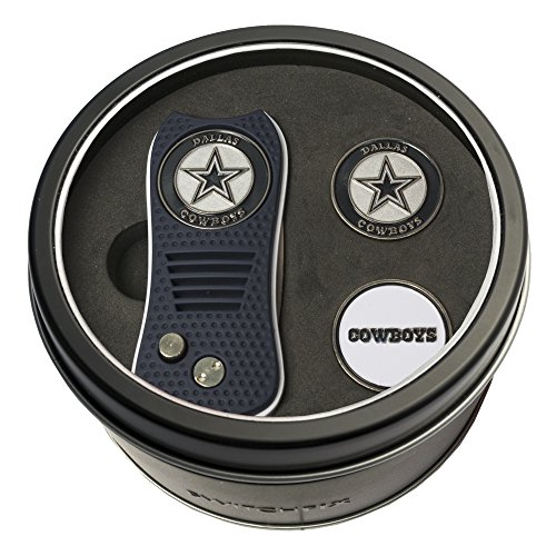 Divot Gift Set - NFL Dallas Cowboys Tin Gift Set with Switchfix Divot Tool and 2 Ball Markers