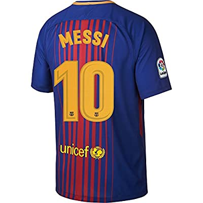Barcelona Home Messi Jersey 2017 / 2018 (Official Printing)