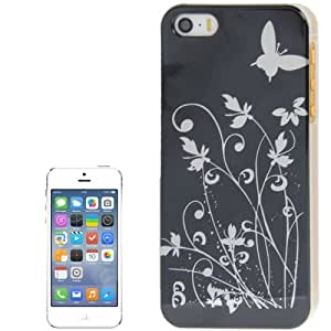 """Iphone 5/5S : caja de plástico de la cubierta del protector de la """"mariposa Negro """""""