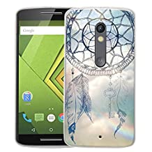 Moto X Play Case, Linkertech Slim TPU Bumper Flexible Soft Back Case Cover Skin Protective for Moto X Play / Droid Maxx 2 5.5 Inch 2015 Smartphone (Wind Chime)