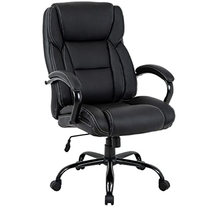 the latest 0d071 68ba5 Big and Tall Office Chair 500lbs Cheap Desk Chair Ergonomic Computer Chair  High Back PU Executive Chair with Lumbar Support Headrest Swivel Chair for  ...