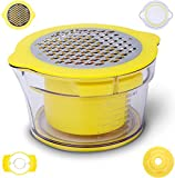 DYZQ Corn Stripper Ginger Sharpener Garlic Plane Cutter Measuring Cup Kitchen Gadget,Non Slip Silicone Bottom The Stainless Steel Blades Work as a Corn Separation(yellow)