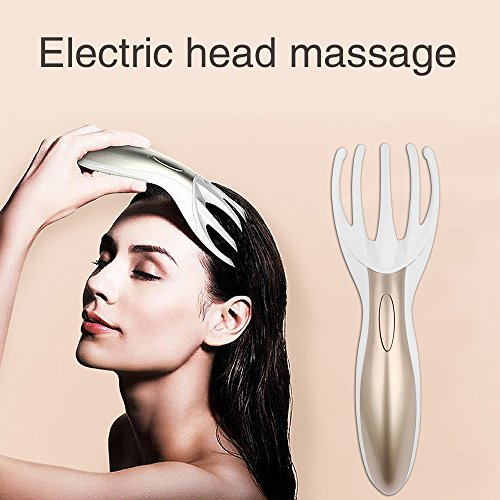 Electric Head Massager,Neck Massage Tool Scalp Vibrating Therapeutic Massage Comb Handheld Headache Relief Comb Stress Relax for Adults by Aibay