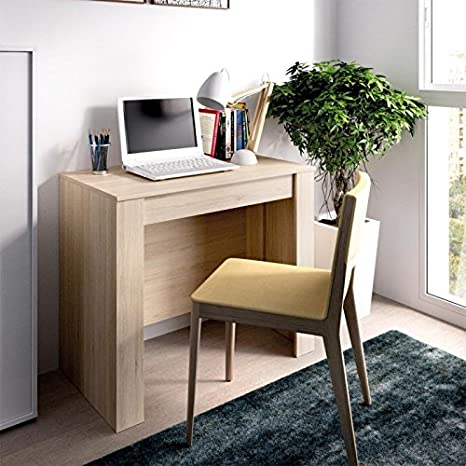LIQUIDATODO ® - Mesa consola extensible moderna y barata de 51 cm a 239 cm en color natural