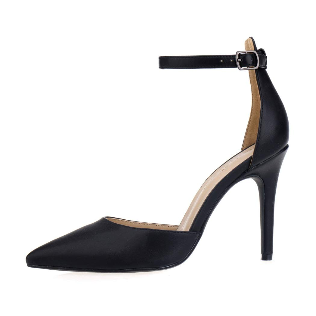 bfa46f915a6 Amazon.com  Women s Heel Pumps Stilettos Pointed Toe High Heel Strappy Heels  Dress Pump Shoes  Shoes