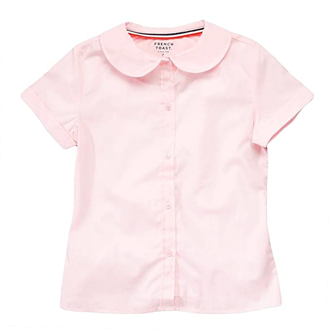 a988b361063750 Image Unavailable. Image not available for. Color  French Toast Girls Short  Sleeve Peter Pan Blouse ...