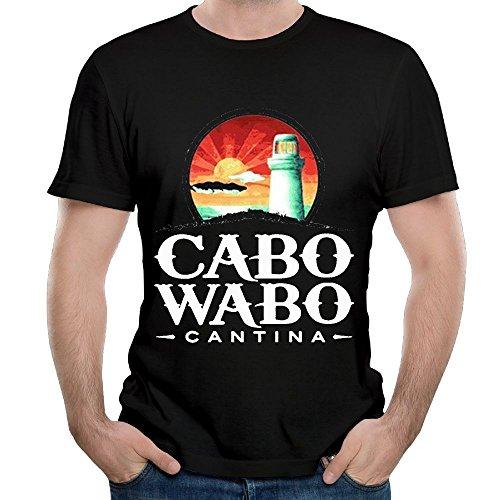 (ZHIJIANSHIGONG Men Cabo Wabo Fashion Hiking Black T-Shirts S Short Sleeve)
