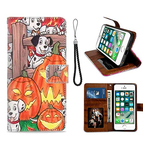 Wallet Case for iPhone 7 Plus (2016) or iPhone 8 Plus (2017) 5.5 Inch Happy Halloween Excellent -
