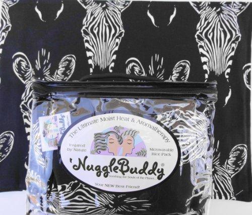 ('NUGGLEBUDDY NEW! Microwavable Moist Heat & Aromatherapy Organic Rice Pack. Trendy Alexander Henry African Zebra Fabric! Sweet Lavender Aromatherpy! GREAT GIFT IDEA!)