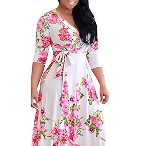 Vestido Imprimir Grasa Mm Vestido Color Gran Mujer De XIU RONG Vestido Cintura De AP4HqYH