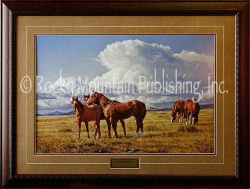 Summer Breeze Framed - Tim Cox Art - Summer Breezes - Custom Framed Limited Edition Signed & Numbered Western Art Print Ready to Hang on Your Wall