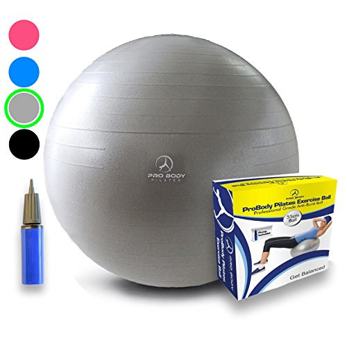 Exercise Ball - Professional Grade Anti-Burst Yoga Fitness, Balance Ball for Pilates,...