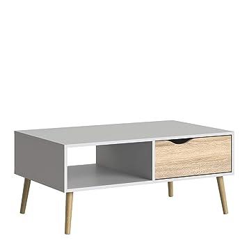 Table Basse Blanche Avec Tiroir.P N Homewares Elsa Table Basse Scandinave Vintage Avec