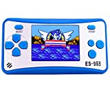 Retro Handheld Games for Kids with Built in 168 Classic Video Games Device Mini Arcade Gaming Machines Portable Electronic Consoles 16 Bit 2.5'' Screen (Blue)