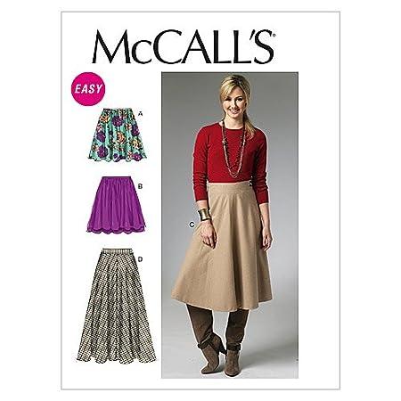 McCalls M6438 - Patrones de costura para confeccionar falda de ...
