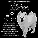 Personalized American Eskimo Dog Pet Memorial 12''x12'' Engraved Black Granite Grave Marker Head Stone Plaque TOB1