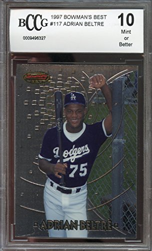 1997 bowman's best #117 ADRIAN BELTRE texas rangers rookie card BGS BCCG 10 Graded Card