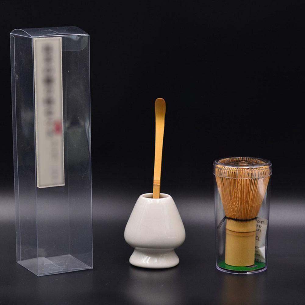 advancethy Matcha Set Schneebesen Tee Bambus Chasen Traditionelle Gr/üner Tee Pulver Whisker Set Tee Scoop Teel/öffel Tiefes Halter Ideales Geschenk f/ür Liebhaber des Gr/ünen Tees