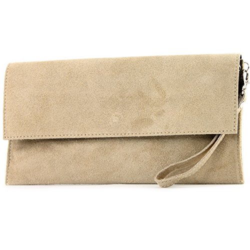 bag T151 City Leather Colors bag Underarm Sand bag Clutch ital Evening de Modamoda bag suede qaBzFgw