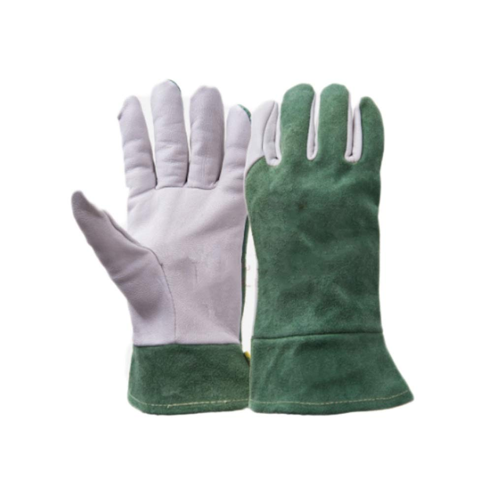 Leather Welding Gloves, Thick Wear-Resistant Protection Barbecue Microwave Oven High Temperature Gloves