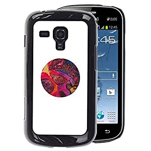 A-type Arte & diseño plástico duro Fundas Cover Cubre Hard Case Cover para Samsung Galaxy S Duos S7562 (Magma Art Pink Red Purple Stones Circle)