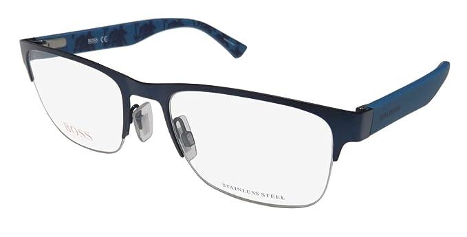 Amazon.com: Hugo Boss Orange Rx Eyeglasses - 0255 0Q9H - Dark Blue ...