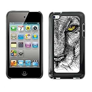 Print Motif Coque de protection Case Cover // V00001712 esbozo de león // Apple ipod Touch 4 4G 4th