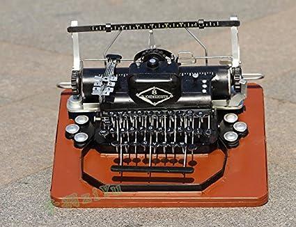 HUAXI Decoración de Artesanía,Antigua máquina de escribir vintage casa ornamentos decorativos, cafetería,