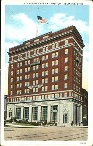city-savings-bank-trust-co-alliance-ohio-original-vintage-postcard