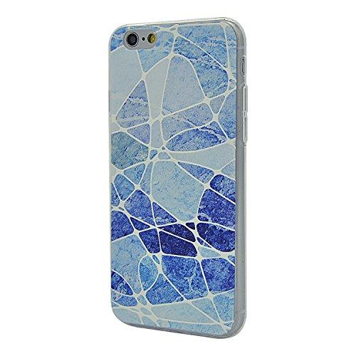 TPU Funda iphone 6 Plus 5.5 Sunroyal ® Carcasa Ultra Slim Impresión Gel Silicona Flexible Case Bumper Parachoques [Choque Tecnología Absorción] Cubierta [Anti-Arañazos] Caja del Teléfono para iPhone  A-15