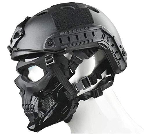 WLXW Masque Tactique Airsoft Et Casque de Paintball Rapide, Masque Intégral de Masque de Protection pour Masque de… 3