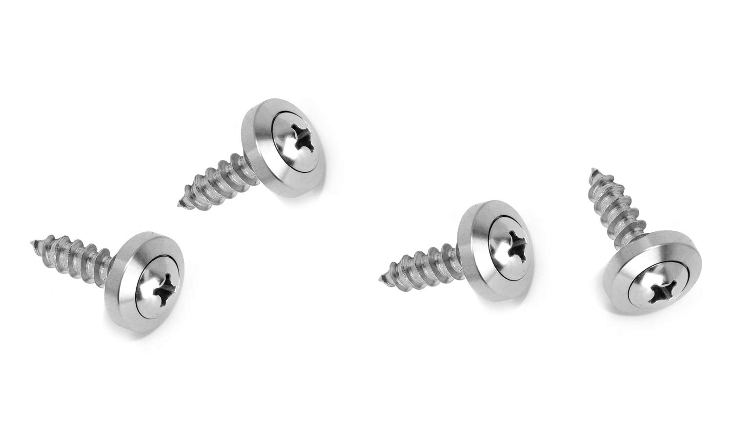 Black LFPartS Stainless Steel Rust Resistant License Plate Frame Self Tapping Screws Fasteners M6x20mm
