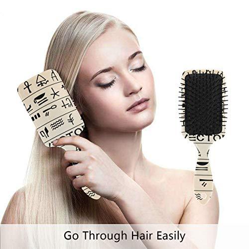 Egyptian Decor Hair Brush,Scalp Massage Hair Comb with Air Cushion