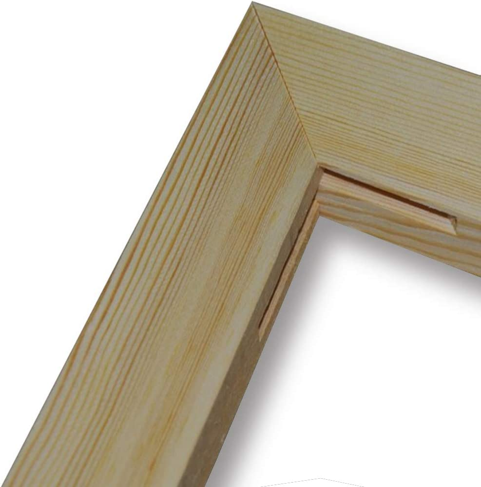 BOSHUN Solid Wooden Frame Canvas Stretcher Bars for Oil Painting 12 x 16 inches 30cmx40cm,4 Strips