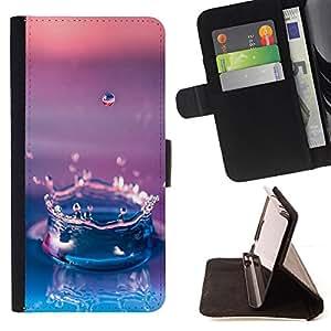 Jordan Colourful Shop - Water Drop Gradient Purple For Apple Iphone 6 - Leather Case Absorci???¡¯???€????€?????????&Atild