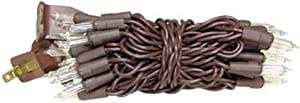 CWI Gifts 35 Count Light Set, Brown