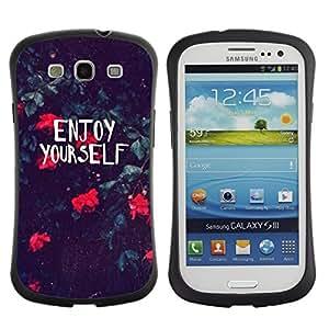 "Pulsar iFace Series Tpu silicona Carcasa Funda Case para SAMSUNG Galaxy S3 III / i9300 / i747 , Motivación Summer Flowers"""