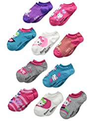 Hello Kitty Girls 10 Pack No Show Socks